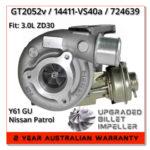 nissan-gu-patrol-y61-zd30-3.0l-turbocharger-gt2052v-billet-impeller-wheel-upgrade-compressor